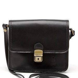 Mixed from Italy Leather Saddle Bag Black
