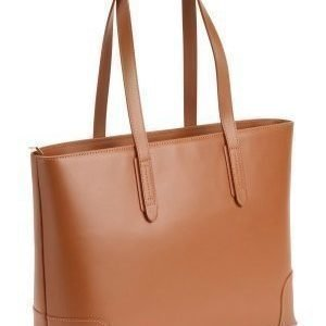 Mixed from Italy Leather Shopper Camel