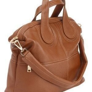 Mixed from Italy Leather Tote Camel