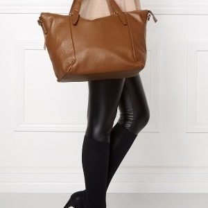 Mixed from Italy Leather Tote Dark Beige/Taupe