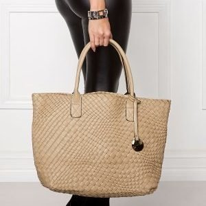 Mixed from Italy Top Handle Satchel Dark Beige/Taupe