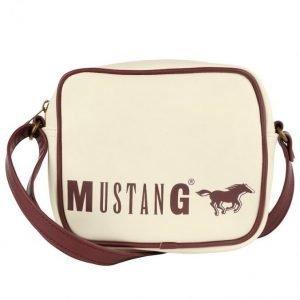 Mustang Olkalaukku Kerma / Viininpunainen