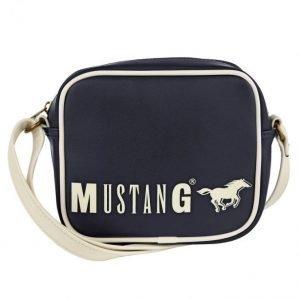Mustang Olkalaukku Tummansininen / Kerma