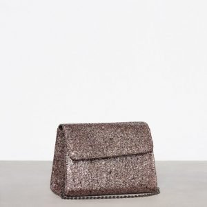 New Look Glitter Structured Chain Strap Bag Olkalaukku Gunmetal