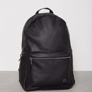 New Look Pu Grain Back Pack Reppu Musta