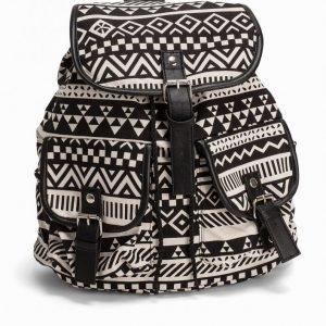 Nly Accessories Aztec Backpack Laukku Musta / Valkoinen