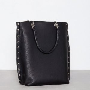 Nly Accessories Studded Chain Tote Käsilaukku Musta
