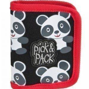 Pick & Pack Panda Lompakko Musta / Valkoinen