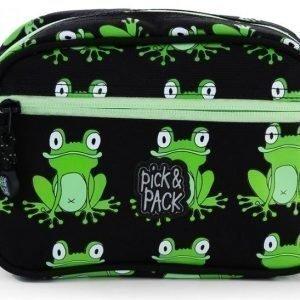 Pick & Pack Toilettilaukku Sammakot Musta