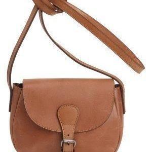 Pieces Baysa Leather Cross Bag Cognac