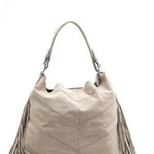 Pieces Bea Suede Bag Moonbeam