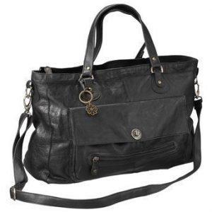Pieces Nahkalaukku Totally Royal Travel Bag Musta