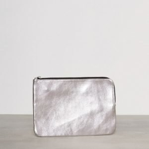 Pieces Pcedina Leather Clutch Iltalaukku Hopea