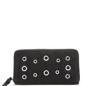 Pieces Pomona Suede Clutch Black