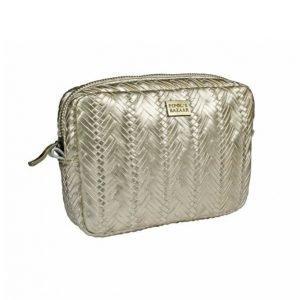 Pipol's Bazaar Plaited Cosmetic Small Pale Gold Kosmetiikkalaukku
