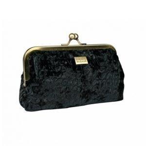 Pipol's Bazaar Velvet Wave Frame Bag Black Kosmetiikkalaukku