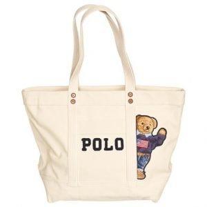Polo Ralph Lauren Canvas Bear Tote Laukku