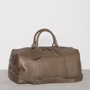 Polo Ralph Lauren Duffel Smooth Leather Viikonloppulaukku Grey