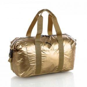 Puma Fit At Workout Bag Gold Duffelilaukku Kulta