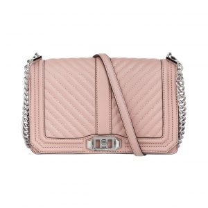Rebecca Minkoff Chevron Quilted Love Crossbody Nahkalaukku