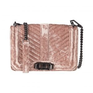 Rebecca Minkoff Chevron Quilted Small Love Crossbody Laukku