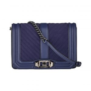 Rebecca Minkoff Chevron Quilted Small Love Crossbody Nahkalaukku