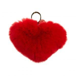 Rebecca Minkoff Heart Fur Pom Pom Turkisavaimenperä