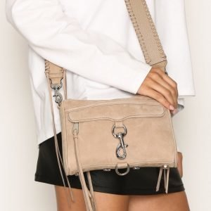 Rebecca Minkoff Mini Mac Nubuck With Guitar Strap Olkalaukku Sandstone