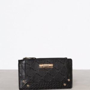 River Island Embossed Slim Purse Lompakko Black