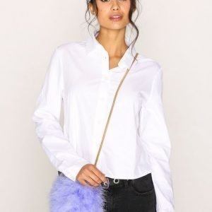 River Island Fluffy Crossbody Handbag Olkalaukku Blue