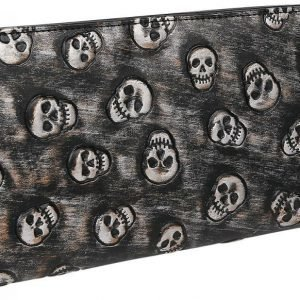 Rock Rebel By Emp Skull Quilted Wallet Kukkaro