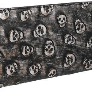 Rock Rebel By Emp Skull Quilted Wallet Kukkaro