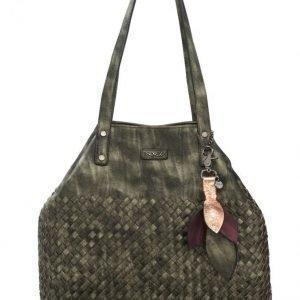Soccx Käsilaukku Khaki / Metallinen