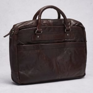 Spikes & Sparrow Spikes & Sparrow Briefcase Dark Brown