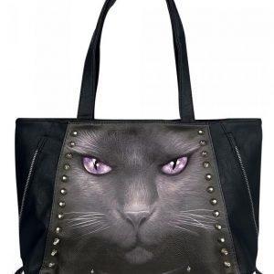 Spiral Black Cat Käsilaukku