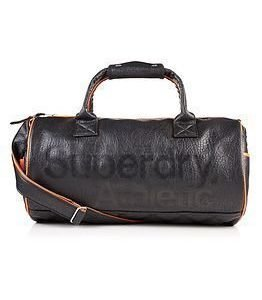 Superdry Athletic Barrel Bag Black