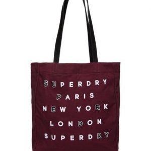 Superdry Etoile Parisian Ostoskassi Punainen