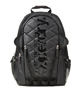 Superdry Quilted Tarp Backpack Black