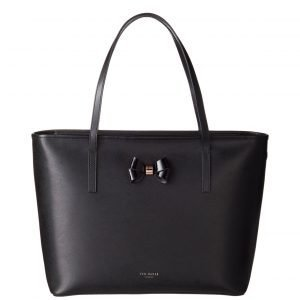 Ted Baker Biancaa Bow Detail Xhatch Large Shopper Nahkalaukku