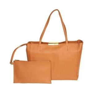 Ted Baker Clarika Soft Grain Faceted Bar Shopper Nahkalaukku