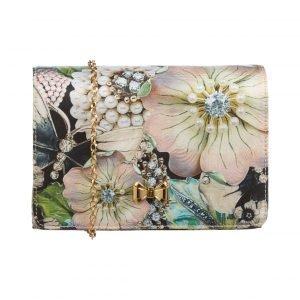 Ted Baker Gem Gardens Metal Bow Clutch Laukku