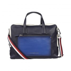 Tommy Hilfiger Colour Blocked Computer Bag Nahkalaukku