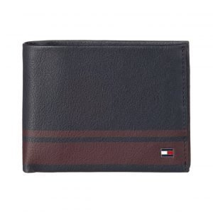 Tommy Hilfiger Signature Stripe Cc And Coin Pocket Nahkalompakko
