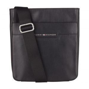 Tommy Hilfiger Smooth Leather Mini Flat Crossover Nahkalaukku