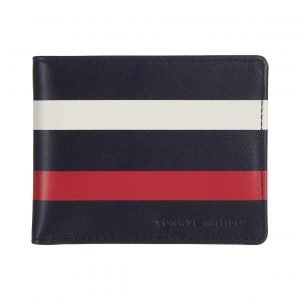 Tommy Hilfiger Striped Leather Wallet Lompakko