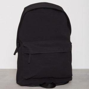 Topman Faux Suede Backpack Reppu Musta