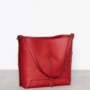 Topshop Asymmetric Hobo Bag Käsilaukku Red