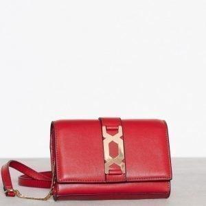 Topshop Hardware Cross Body Bag Olkalaukku Red