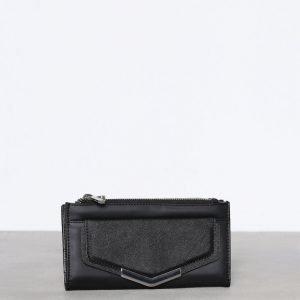 Topshop Metal Pront Pocket Purse Lompakko Black