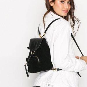 Topshop Mini Borg Backpack Reppu Black